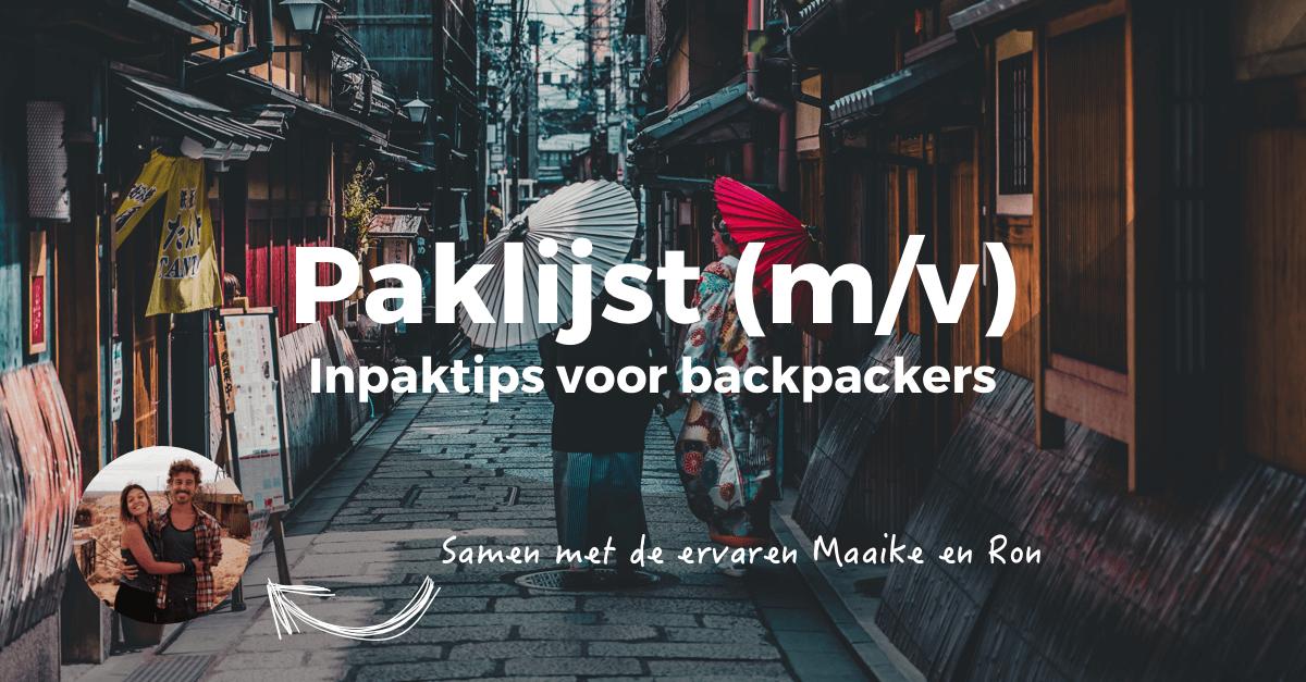 lijst backpacken